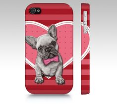 French bulldog phone case for iPhone 4/ 4S 5/ 5S by MimoCadeaux, $34.00