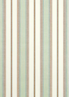 Bohemian Stripe wallpaper and coordinating #fabric in Seafoam from the Monterey collection by Thibaut