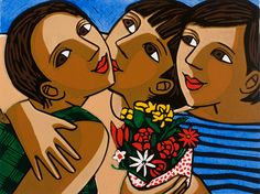 Birthday Flowers by Anita Klein