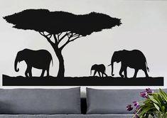 Safari Africano 2 uBer calcomanías pared calcomanía por uBerDecals