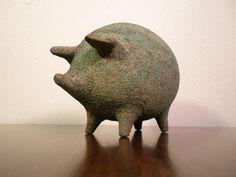 Mid-century modern piggy - not a bank, but randomly cute.