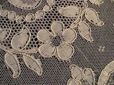 Alencon lace is a wonderful light strong old lace from France. Not many machine made laces are this valuable and it is because of the hand sewn cordonnet tracing the machine woven lace design and production runs were limited and so this French lace...