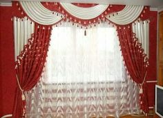 Curtains Swag Curtains, Curtains And Draperies, Home Curtains, Modern Curtains, Drapery Designs, Beautiful Curtains, Window Dressings, Draping, Window Treatments