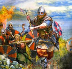 👋👋Viking Raids 🖐Raiding was, in fact, a desirable task for the young man while the mature man was set to settle down. 🖐As the Vikings believed, raids were an important test to find out how strong a Viking was and find out what their fate was destined to be. 🖐Raids would bring the Viking fame and wealth, both of which were the most important parts for a man to thrive. Art Viking, Viking Armor, Viking Dress, Viking Woman, Medieval Art, Medieval Fantasy, Dark Ages, Viking Images, Viking Reenactment