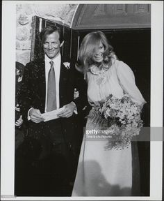 Cheryl Tiegs, second wife of Peter Beard, 1982 - 1986. Photograph, on their wedding day.