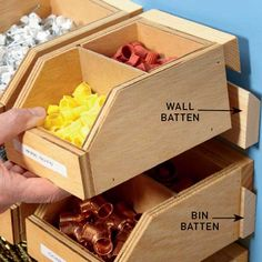 Workshop storage Diy workshop Garage workshop Diy woodworking Tool storage Woodworking shop DIY Workshop Storage Bins dless power screw drivers is a good idea if you pl.