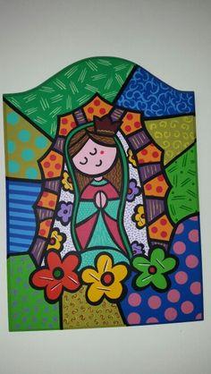 Virgen de Guadalupe. Técnica  Britto