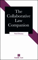 The Collaborative Law Companion  Collaborative family law allows practitioners to manage the divorce process in a more dignified manner. Each separating spouse receives legal advice and practical guidance and, together with specially trained collaborative lawyers, can discuss and resolve issues through face-to-face meetings. The process can also involve other professionals (eg counsellors and child/financial specialists) who help clients reach an agreement.