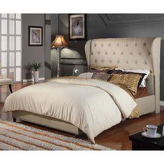 Paris Queen Bed - Beige | $899.00 - Milan Direct