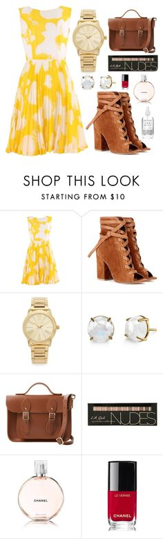 """""""Untitled #307"""" by designer-mae ❤ liked on Polyvore featuring Gianvito Rossi, Michael Kors, Irene Neuwirth, The Cambridge Satchel Company and Chanel"""