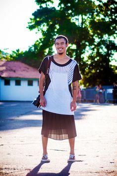 RIOetc | Fotografias, saia e t-shirt geométrica.
