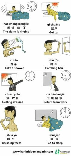 routine themed verbs in chinese