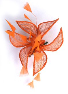 Orange Fascinator By Www Fascinatosaustralia Au