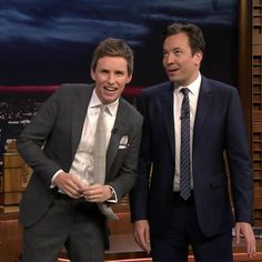 Eddie Redmayne walks Jimmy through the steps of the seductive dance he had to perform in Fantastic Beasts and...