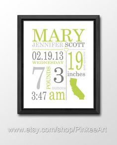 Personalized baby gift birth stats birth details nursery personalized baby gift birth stats birth details nursery printable baby name art printable nursery art digital nursery new baby gift subway art negle Images