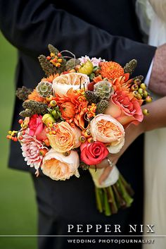 fall wedding bouquet by Roots