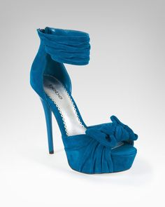BeBe Luella Knotted Leather Platform Sandal Shoes Blue Sapphire-6: Shoes    omg... i have these in black leather had no idea they existed in this style as well.