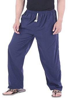 CandyHusky Homme Casual Jogging Yoga Pantalon de Sport en Coton Chino Pantalons  Pants (Bleu foncé 1754ecb7342