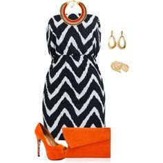 """""""plus size orange vibes hot date look"""" by kristie-payne on Polyvore"""
