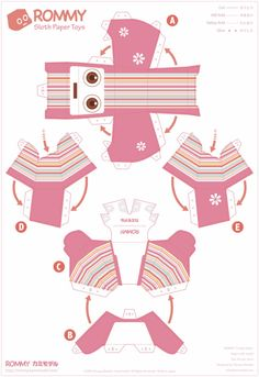 Paper Toys Rommy (Collection x 27 !!!) | Papertoys, Papercraft & Paper Arts
