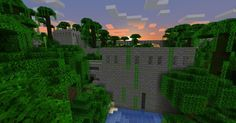 Repurposed Structures mod (Forge) for minecraft is a mod about taking existing vanilla features and structures and creating new variants or Minecraft Forge, Minecraft Mods, Desert Biome, Jungle Temple, Giant Tree, What The World, Tree Tops, Biomes, How To Level Ground