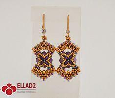 Tutorial Marja Earrings-Beading tutorials and Patterns by
