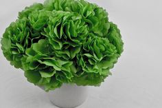 St. Patrick's Day Bouquet - Made with Glue Dots & tissue paper.  Click on the photo for How To & Supplies Used.  #st-patricks-day
