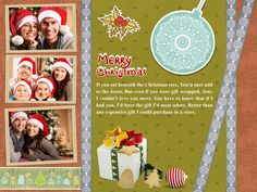 Download Free Christmas Greeting Card Template-1001 in CorelDraw and Ms-Word File Format.
