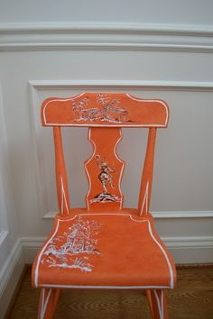 Chinoiserie Chic: Touches of Orange Chinoiserie