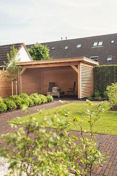 Veranda fence, the Veenendaal landscaped - Innen Garten - Eng Outdoor Gazebos, Garden Gazebo, Backyard Patio Designs, Backyard Sheds, Backyard Pergola, Backyard Landscaping, Backyard Buildings, Garden Inspiration, Ceiling Fan