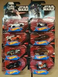 HOT WHEELS 1:64 STAR WARS CHARACTER CARS SET OF 8 LUKE KYLO DARTH R2D2  BOBA