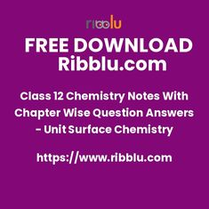Class 12 Chemistry Notes With Question Answers - Unit Electrochemistry Concepts