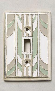 Retro Swirl Switch Plate