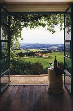 Tuscany , Italy ----- A room with a view...