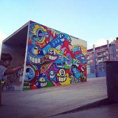 Artist: Pez Cranio Artes  Location: Barcelona Spain  Photo: repost - check out @pezbarcelona for more amazing murals!  ℹ More at StreetArtRat.com  #travel #streetart #street #streetphotography #tflers #sprayart #urban #urbanart #urbanwalls #wall #wallporn #graffitiigers #stencilart #art #graffiti #instagraffiti #instagood #artwork #mural #graffitiporn #photooftheday #streetartistry #pasteup #instagraff #instagrafite #streetarteverywhere #repost