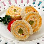 Tea Sandwich recipe: Pimiento Cheese Spread - Canadian Living - for Oz night! Party Snacks For Adults Appetizers, Tea Snacks, Appetizer Recipes, Christmas Appetizers, Tea Sandwiches, Pinwheel Sandwiches, Finger Sandwiches, Afternoon Snacks, Afternoon Tea