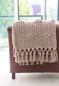 Pebble Stone Throw crochet pattern