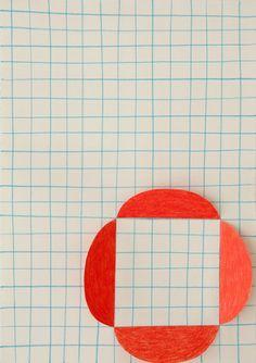 Sabine Finkenauer, Form, 2013, pencil, collage on paper, 29 x 42 cm