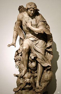 Narcissus. 1680-85. Gabriel Grupello. Flemish 1644-1730. marble. Museum of Fine Arts Belgium.