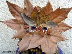 leaf mask with a paper plate base
