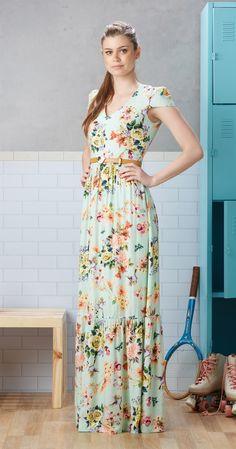 Só na Antix Store você encontra Vestido Longo Garden com exclusividade na internet