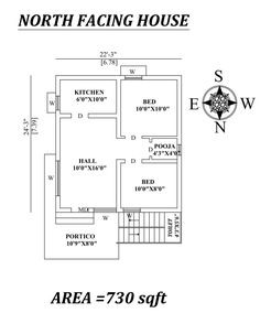 Little House Plans, 2bhk House Plan, Free House Plans, Model House Plan, Duplex House Plans, House Layout Plans, Family House Plans, House Layouts, 1 Bedroom House Plans