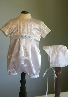 Personalized Baby Boy Baptism/Christening Outfit by pamperedbaby2