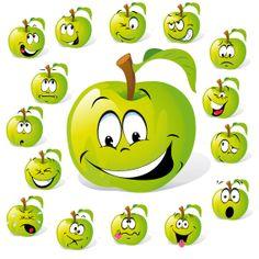 Cartoon Fruit Expression 01 Vector Download Free Vector3d Model