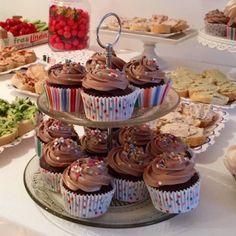 Cupcakes chocolat, glaçage à la meringue italienne