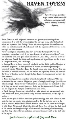 Raven Totem Meaning Raven Spirit Animal, Animal Spirit Guides, Raven Totem, Raven Art, Crow Totem, Raven And Wolf, Quoth The Raven, Crow Or Raven, Lotus Mandala