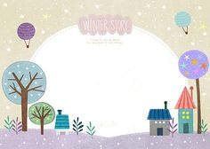 Event Page, Cute Illustration, Beautiful Flowers, Printables, Wallpaper, Frame, Winter, Kids, Crafts