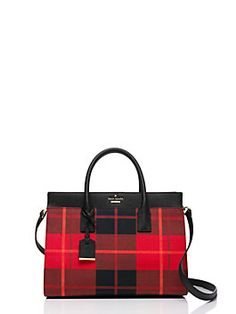 the cameron street candace satchel combines a classic shape with a number of clever details, including exterior slide pockets, a dropped zip-top closure and an optional (and adjustable) shoulder strap. re-imagined for fall in our new plaid, it's both timeless and utterly of-the-moment.