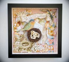 Little Darlings shadow box by: @JackandCatCurio Product Used: #Graphic45 paper & #Ikea frame