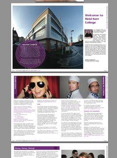 Stratford College Prospectus By Ashley Keetley Via Behance